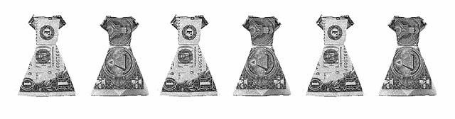 Money Dresses origami